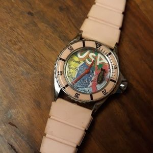 Vintage 1980s era out of time wind-up watch USA